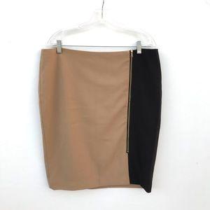 Ann Taylor Color Block Pencil Skirt Size 14